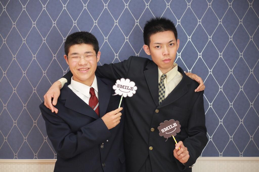 兄弟で学生制服記念★