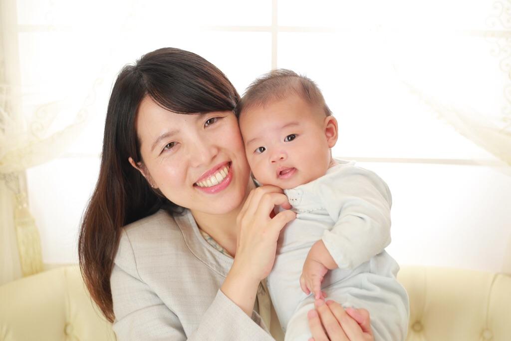 2ヶ月の男の子とカジュアルフォト♡