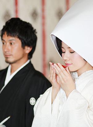 笠原神明宮での神前式