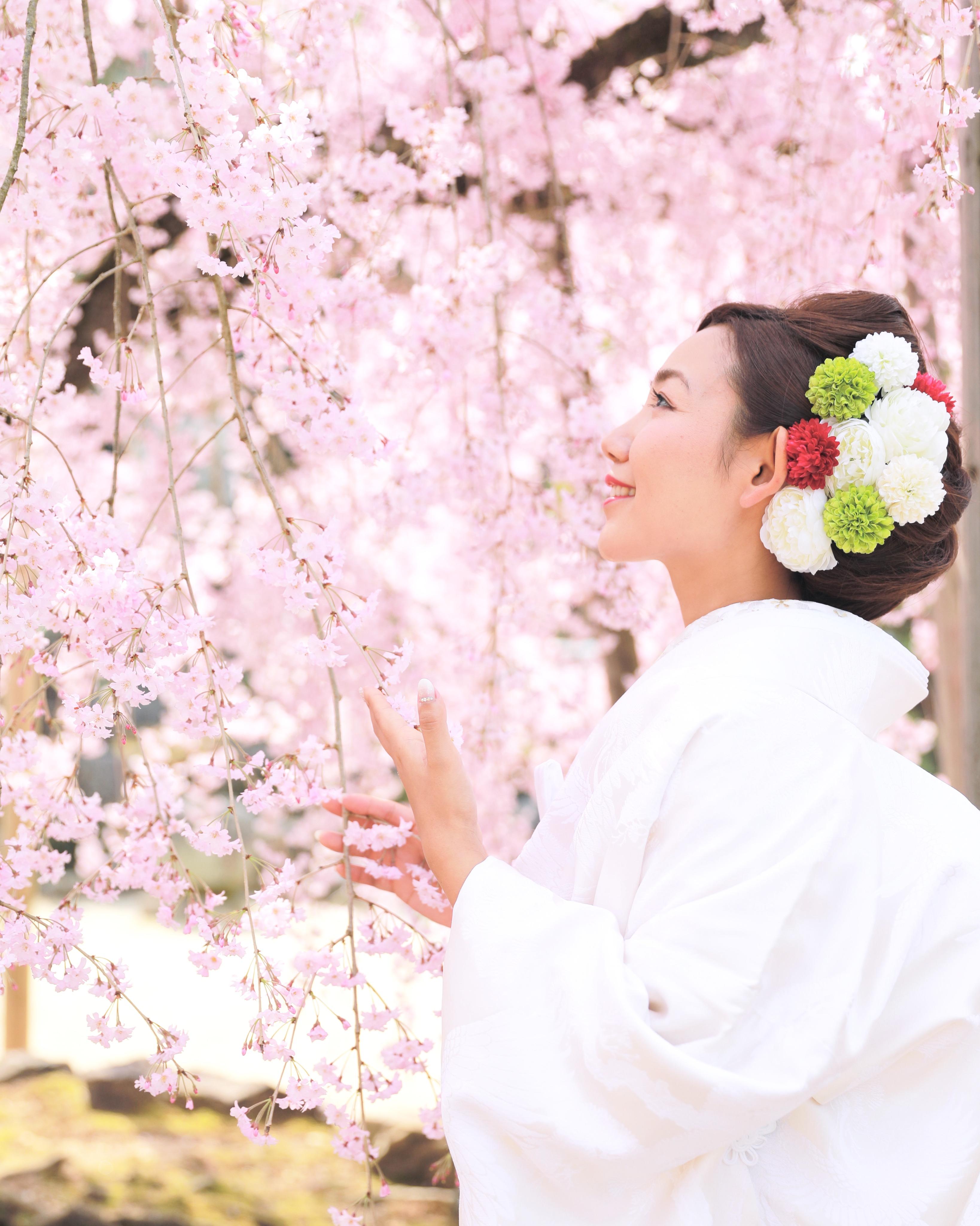 夢の桜と和装婚