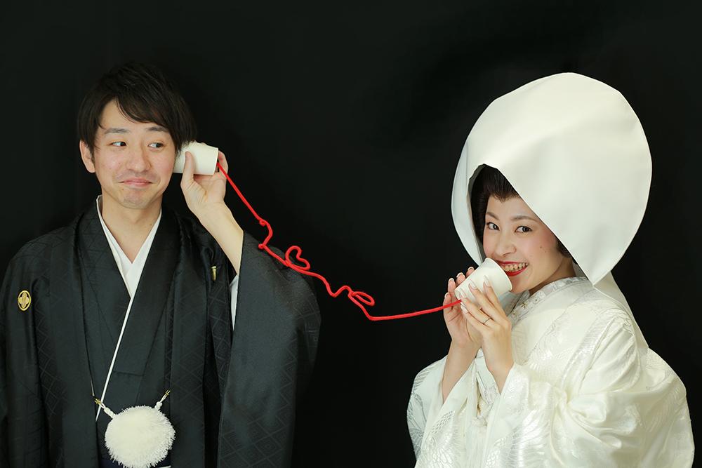 白無垢綿帽子で婚礼写真♡