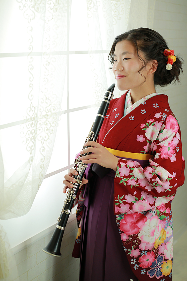 楽器とともに中学卒業袴&高校入学 【可児】