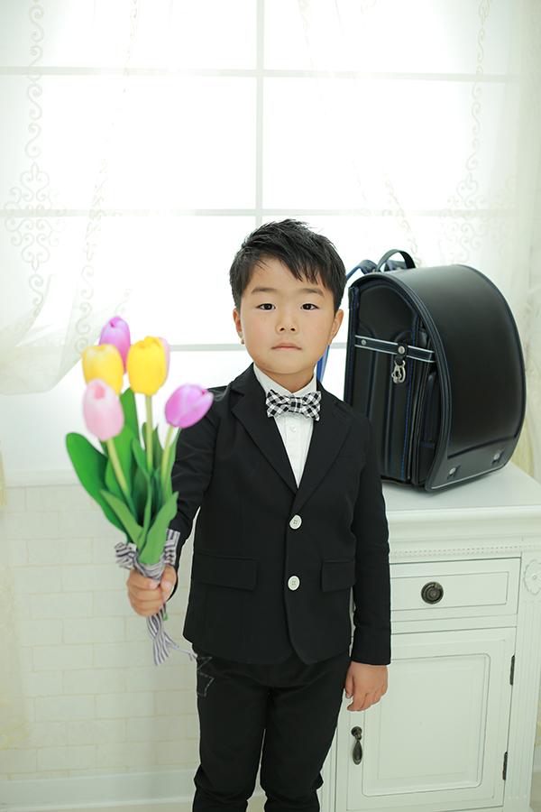 小学校入学記念写真 ランドセルで 【川辺町】