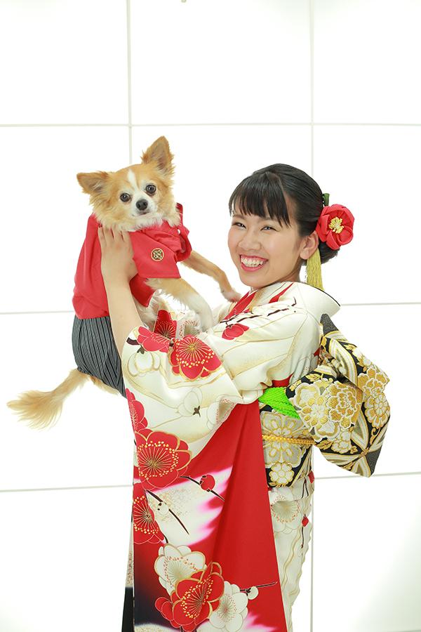愛犬さんと、ご家族と、お友達と成人式前撮り【可児】