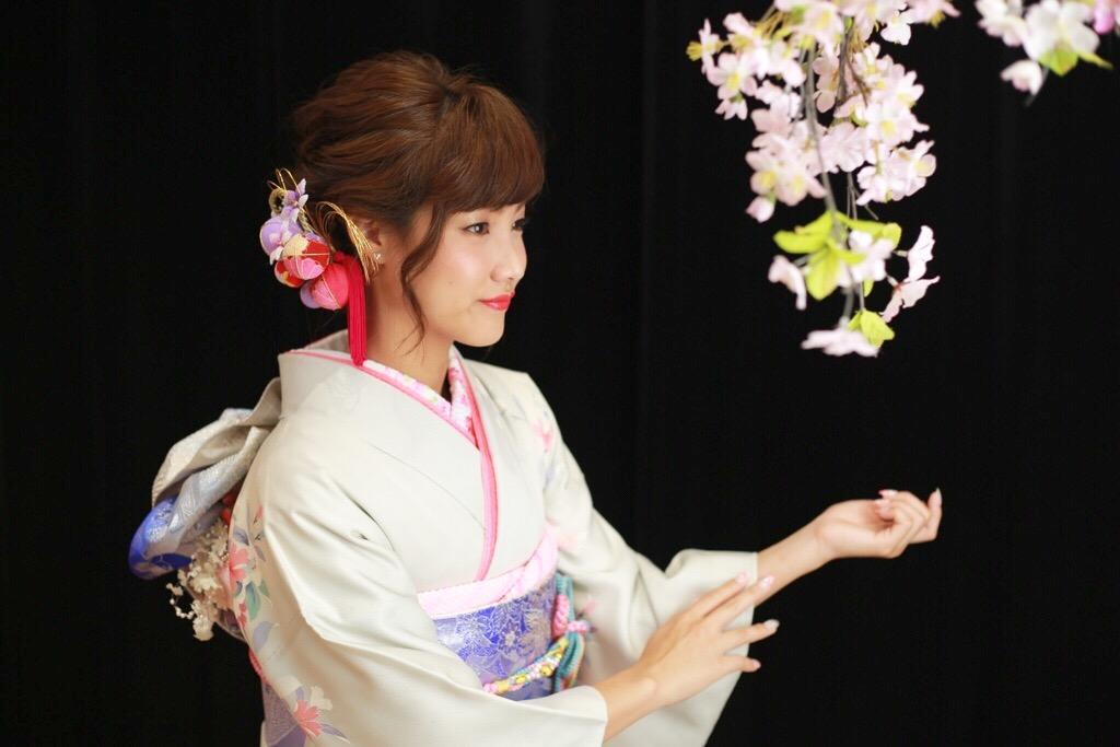 桜とキレイな横顔☆