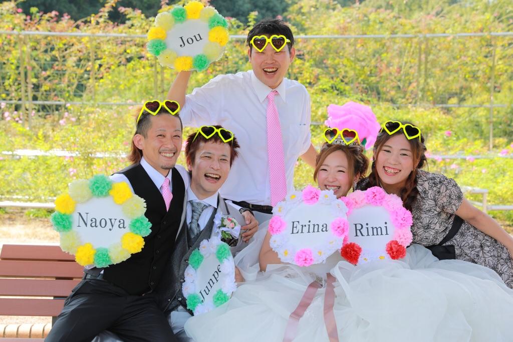 花フェスタ記念公園でお友達も集まり、結婚式前撮り撮影♡
