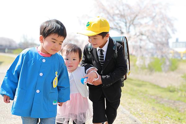 桜で入学&兄弟撮影 【愛知県春日井市】