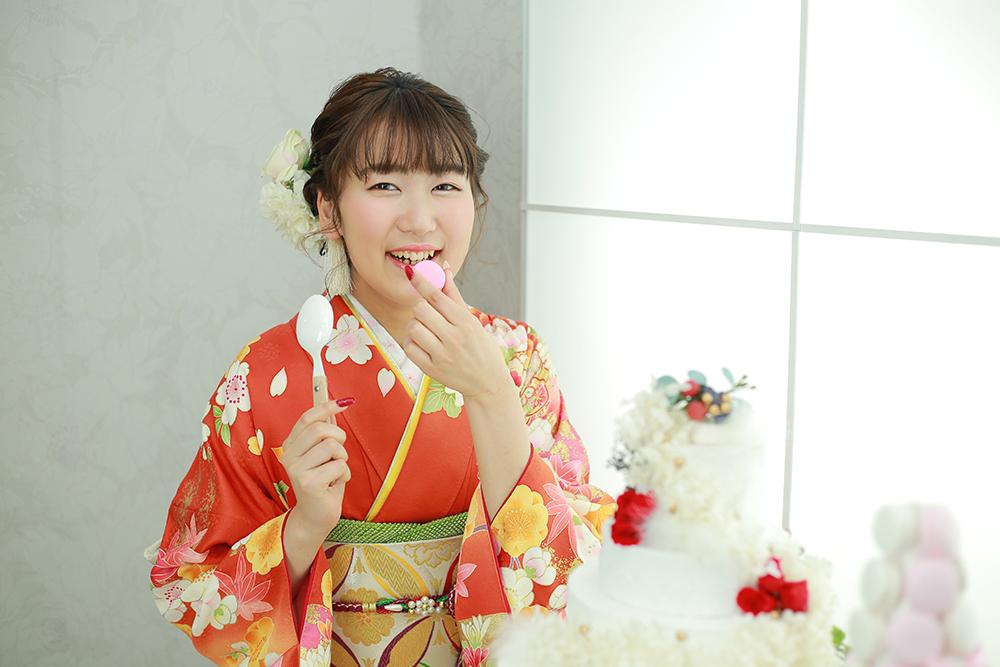 ケーキとマカロンと成人式前撮り☆【可児市】