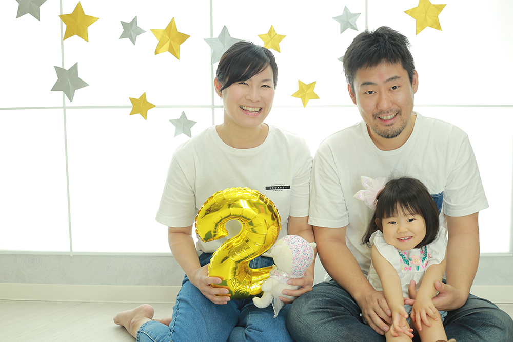 大好きなパパとママと2歳記念☆【可児市】