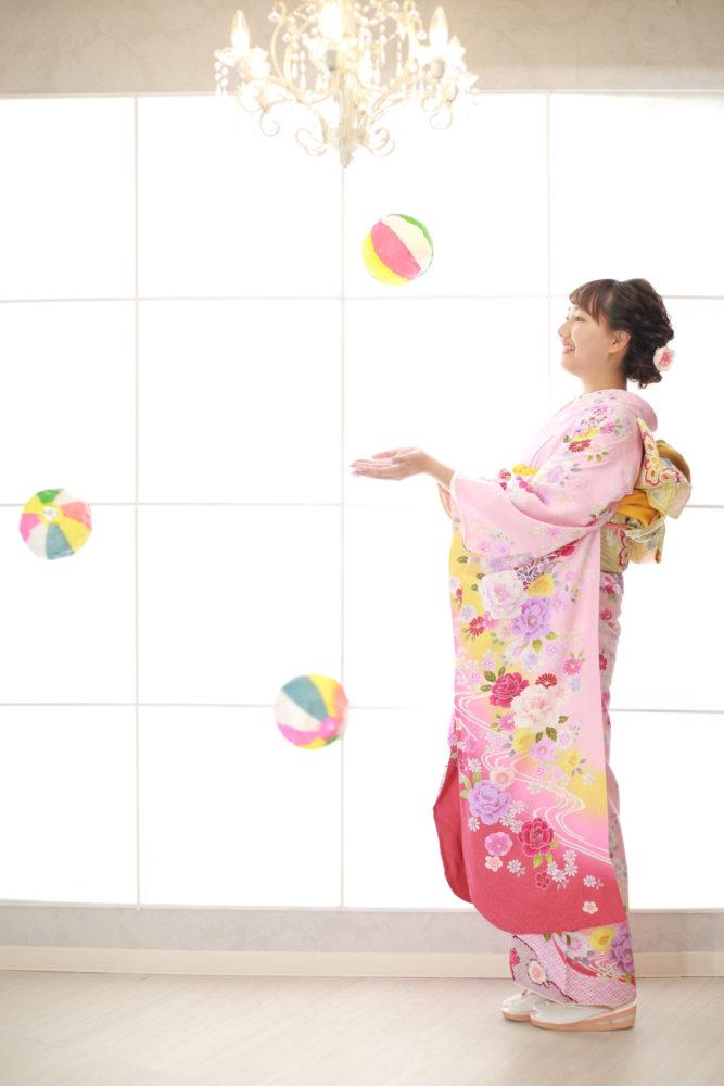 ピンクの振袖♪【関】