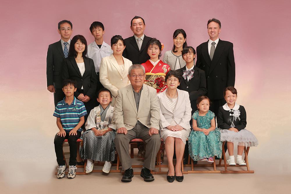 大家族記念写真【可児市】