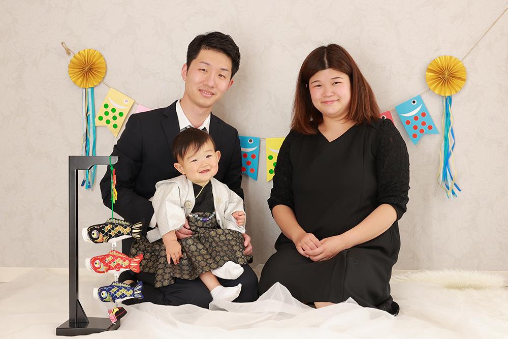 家族と一緒に初節句【可児市】